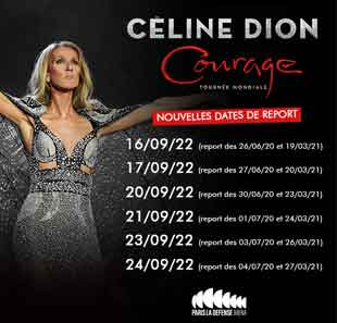 Pop-rock/Folk CÉLINE DION - Courage World Tour