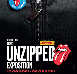Exposition THE ROLLING STONES - UNZIPPED Delivered by DHL MARSEILLE